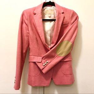 Banana Republic pink blazer with elbow patches